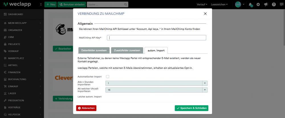 MailChimp angebunden 1