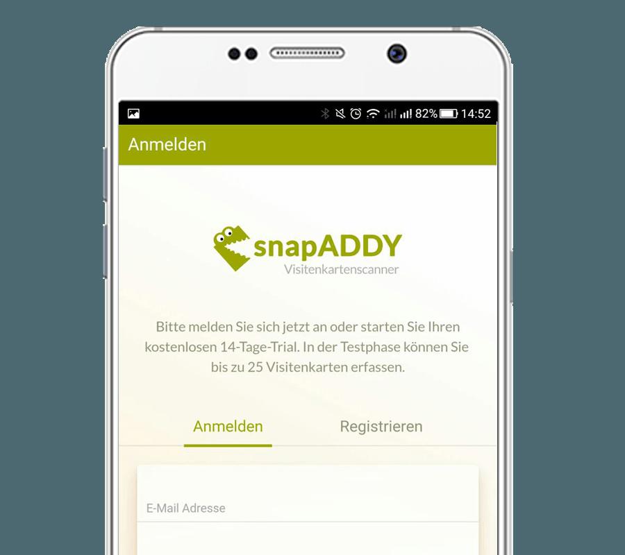Visitenkartenscanner mobil