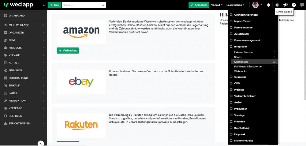 Amazon an weclapp anbinden 1