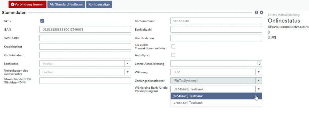 FinTecSystems als Zahlungsdienstleister auswählen