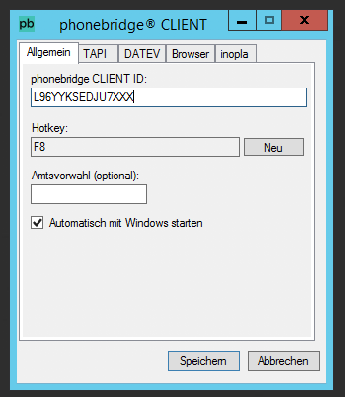 NFON Screenshot Produkt